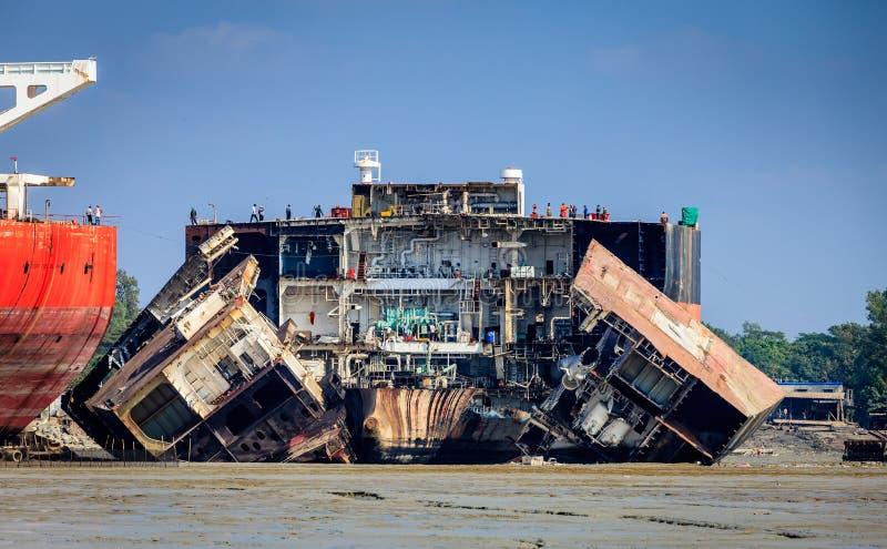 孟加拉国吉大港发生船祸 免版税图库摄影