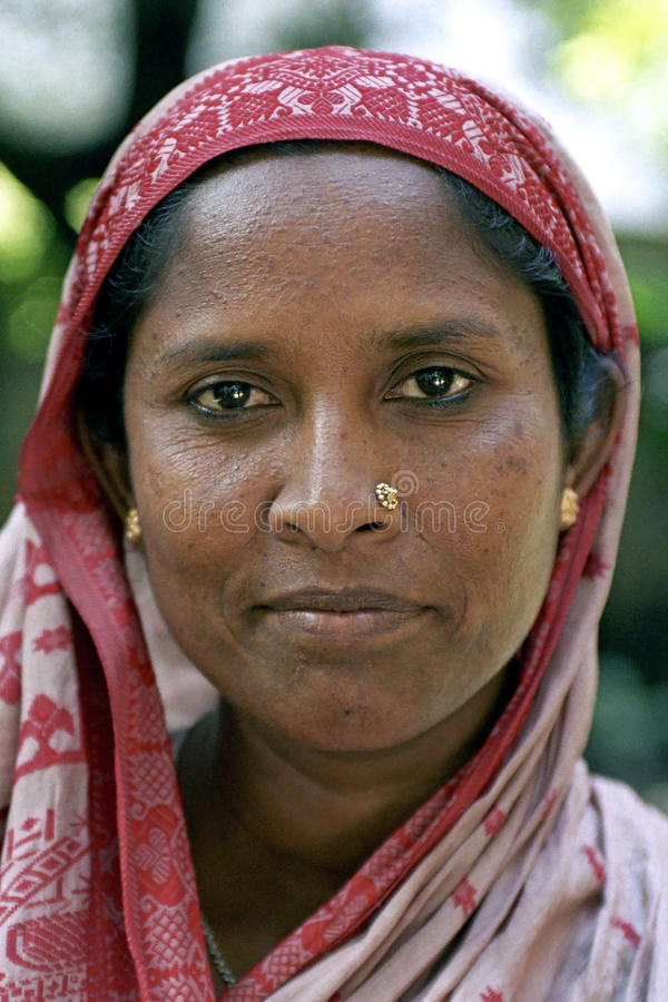 孟加拉国的妇女,达卡,孟加拉国画象  库存照片