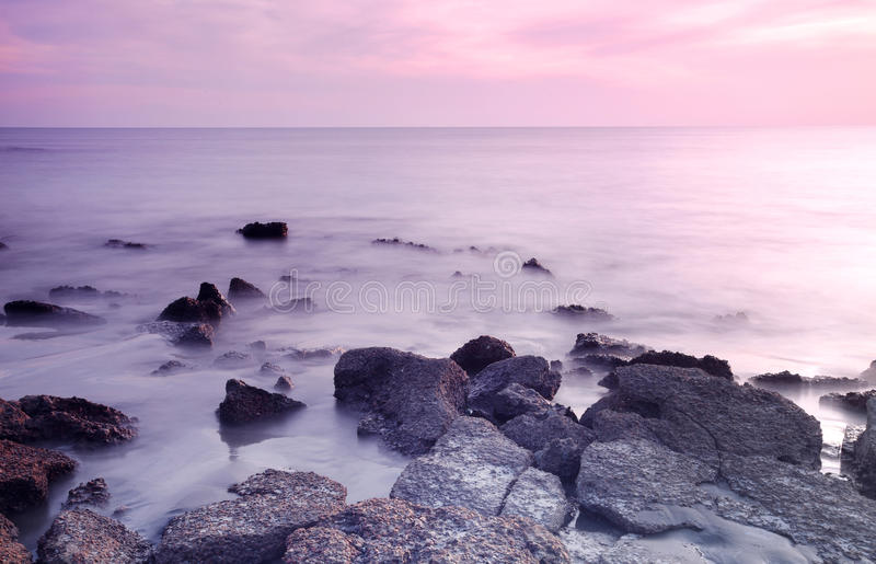 孟加拉国的岩石圣Martins海岛 库存图片