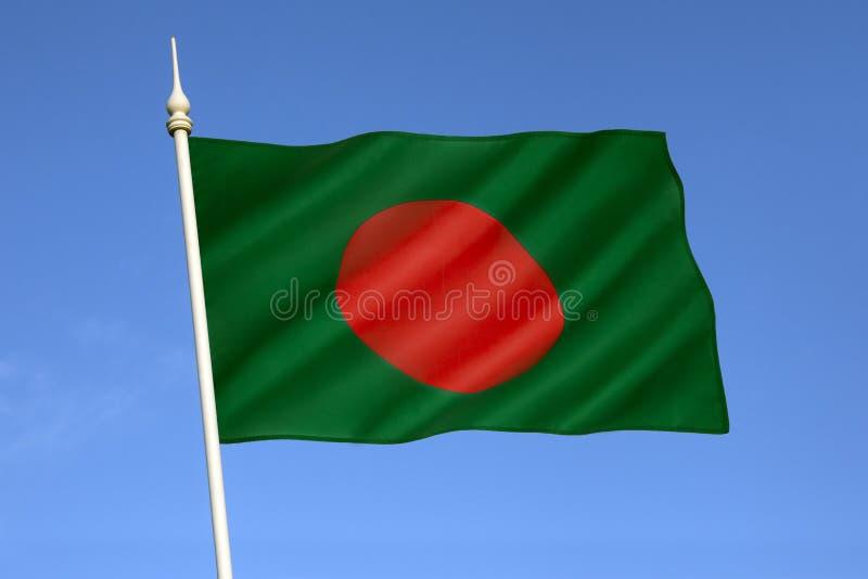 孟加拉国的旗子 免版税库存照片