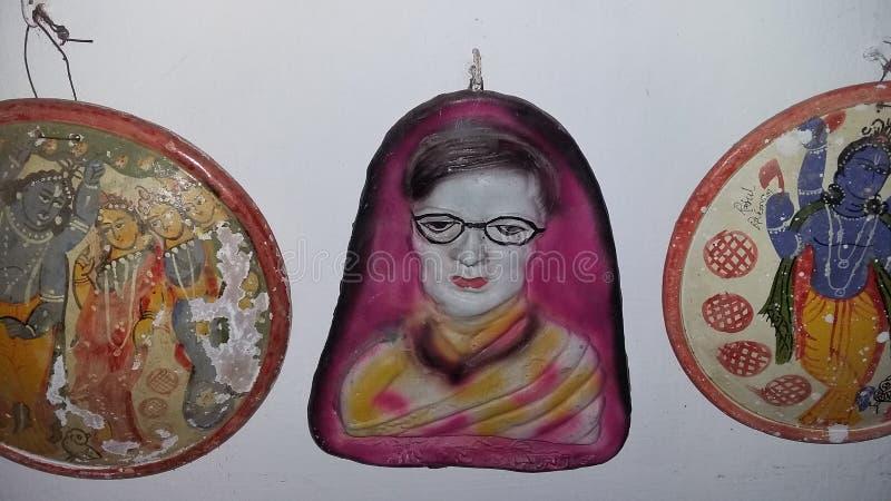 孟加拉国的诗人jasimuddin家 库存照片