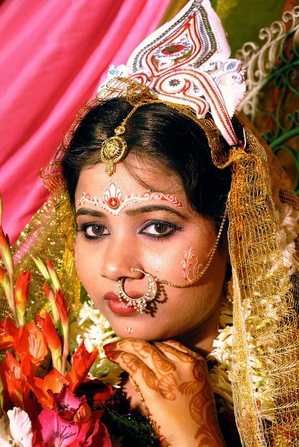 孟加拉新娘 免版税库存照片