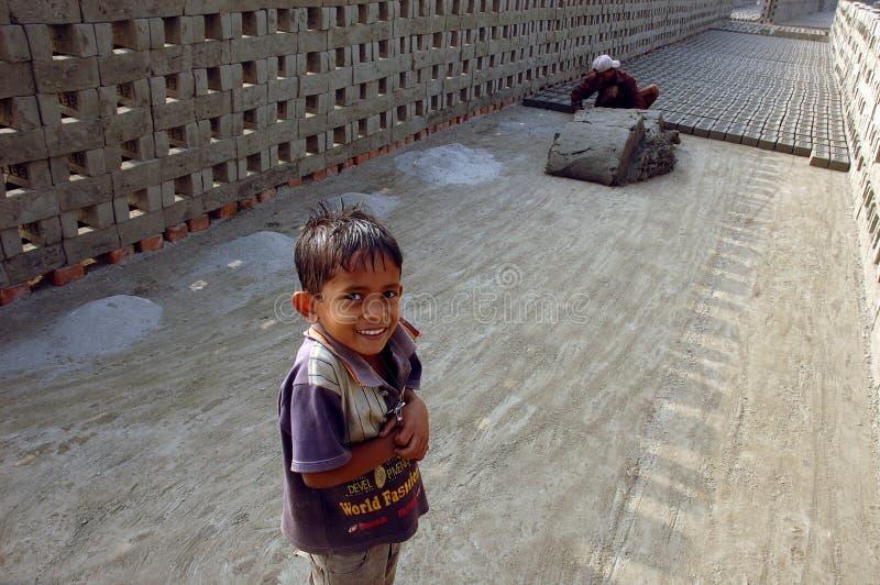 孟加拉砖厂西方的印度 库存照片