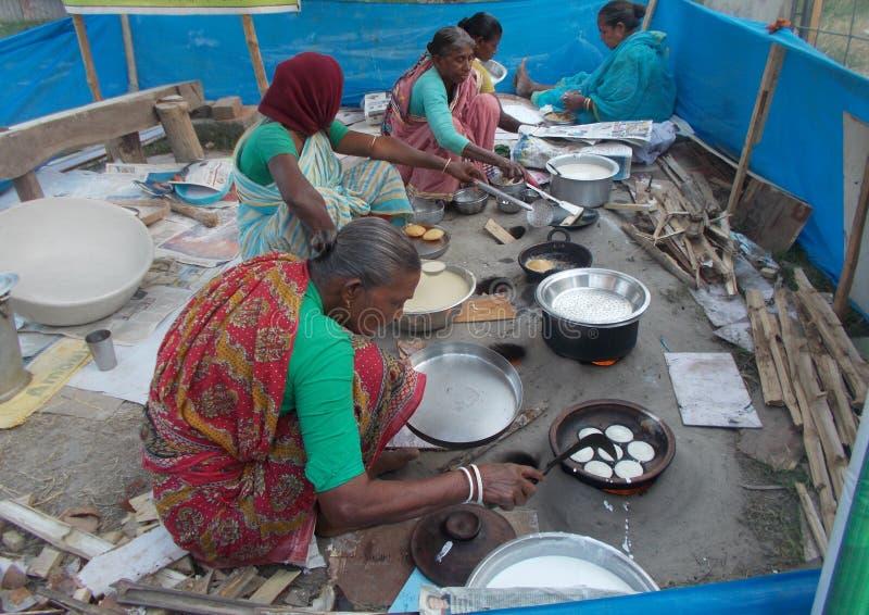孟加拉自创甜点, pitha 免版税库存图片