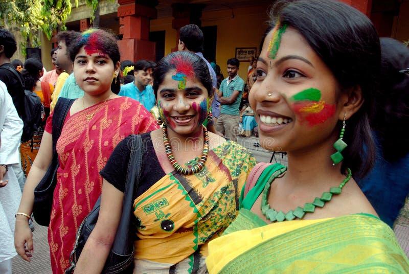 孟加拉节日holi西方的印度 图库摄影