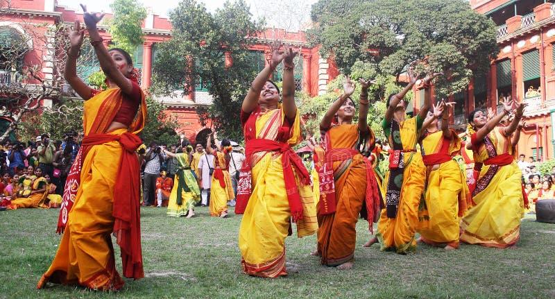 孟加拉节日holi西方的印度 免版税库存图片