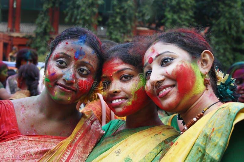 孟加拉节日holi西方的印度 免版税图库摄影