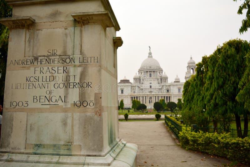 孟加拉雕象州长在维多利亚纪念品的 免版税库存照片
