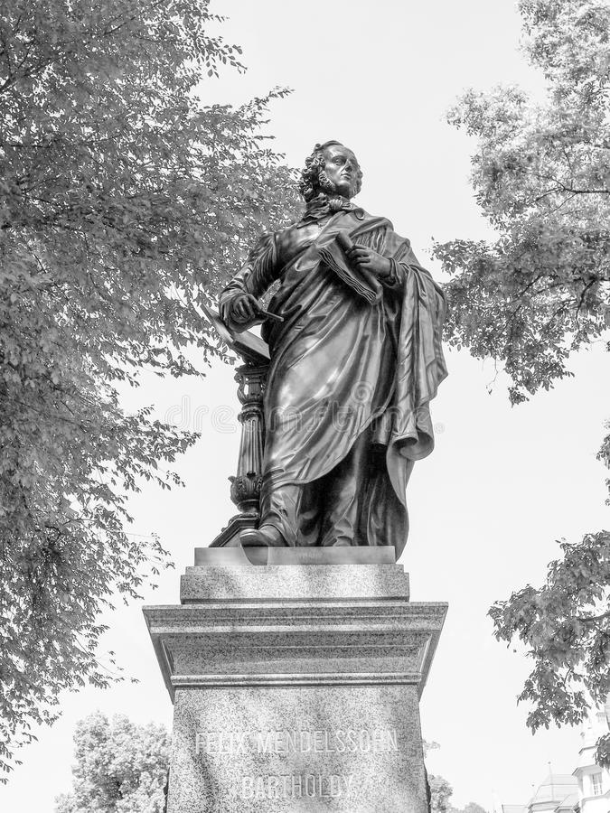 孟德尔松Denkmal莱比锡 免版税库存照片