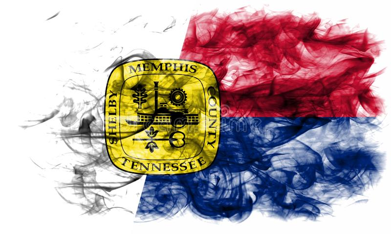 孟菲斯市烟旗子,田纳西状态, Ameri美国  图库摄影
