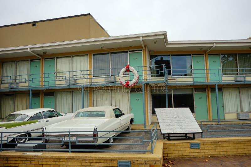 孟菲斯汽车旅馆 库存照片