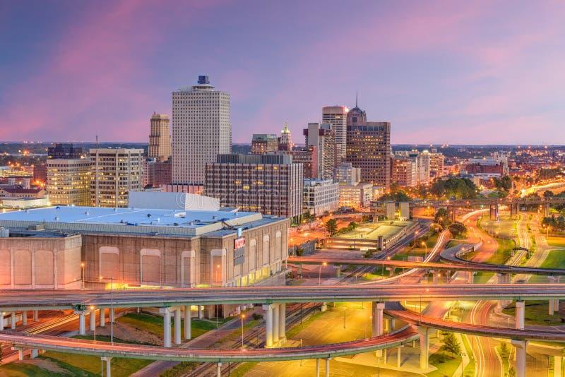 孟菲斯,田纳西,美国地平线 图库摄影