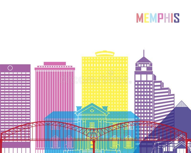 孟菲斯V2地平线流行音乐 库存例证