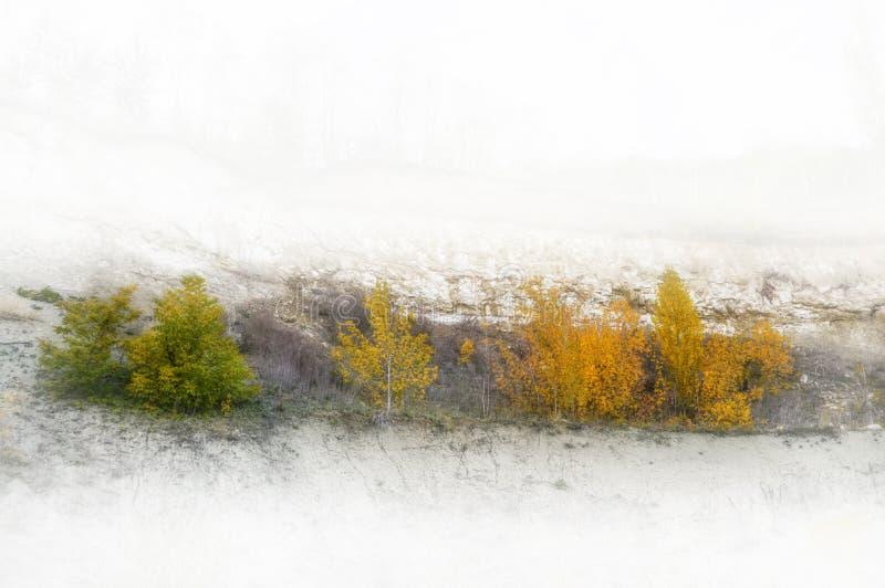 季节时间向量年 秋天 库存照片