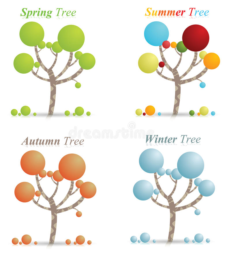 季节结构树的 向量例证