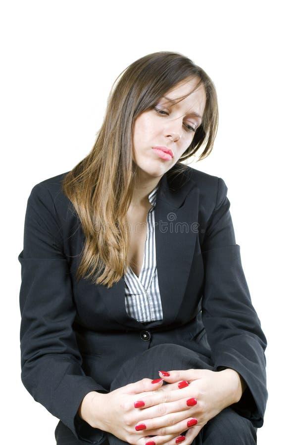 孤独企业的女孩 免版税库存图片