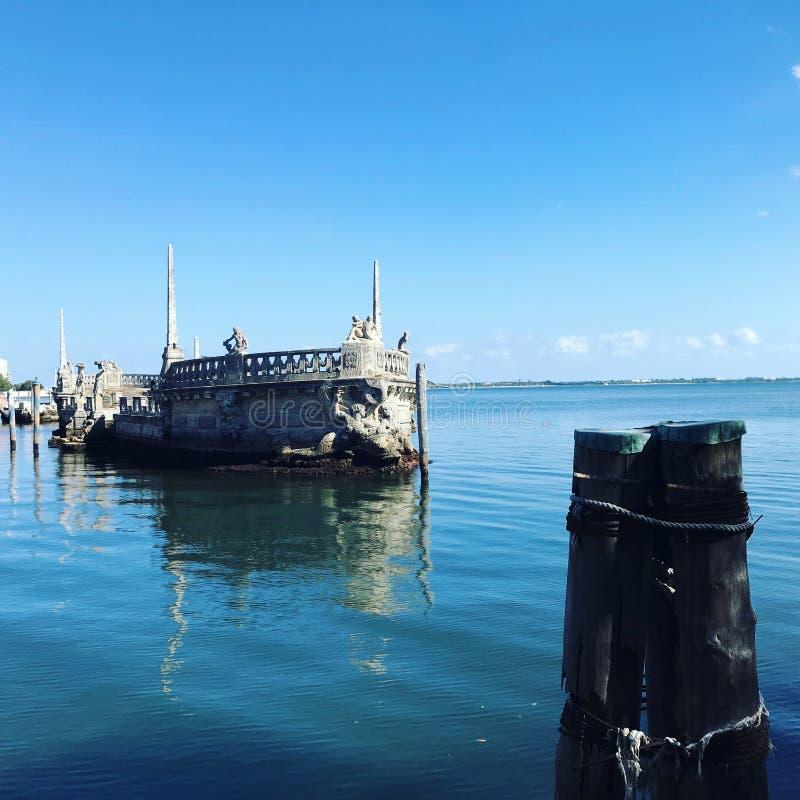 孤独在海,FL 免版税库存照片
