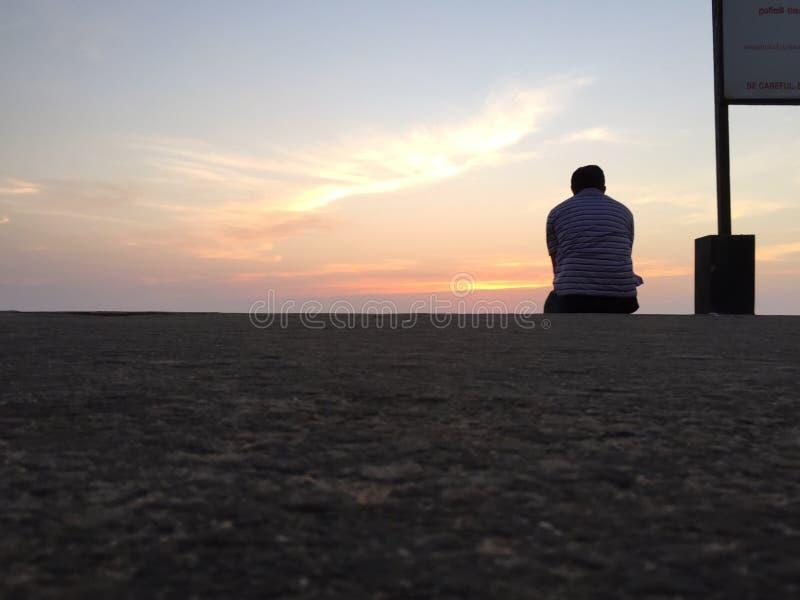 孤独的人 免版税库存图片