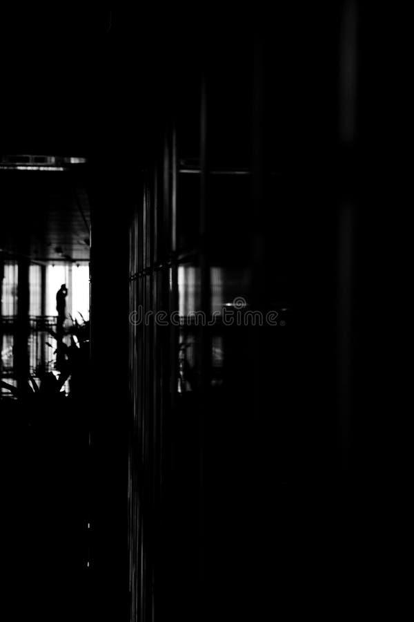 孤独的工作者 免版税库存图片