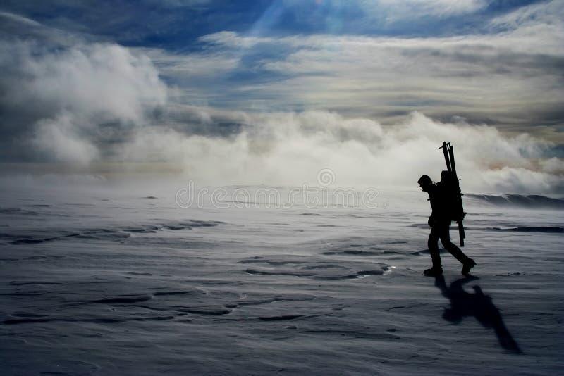 孤独的旅行家 图库摄影