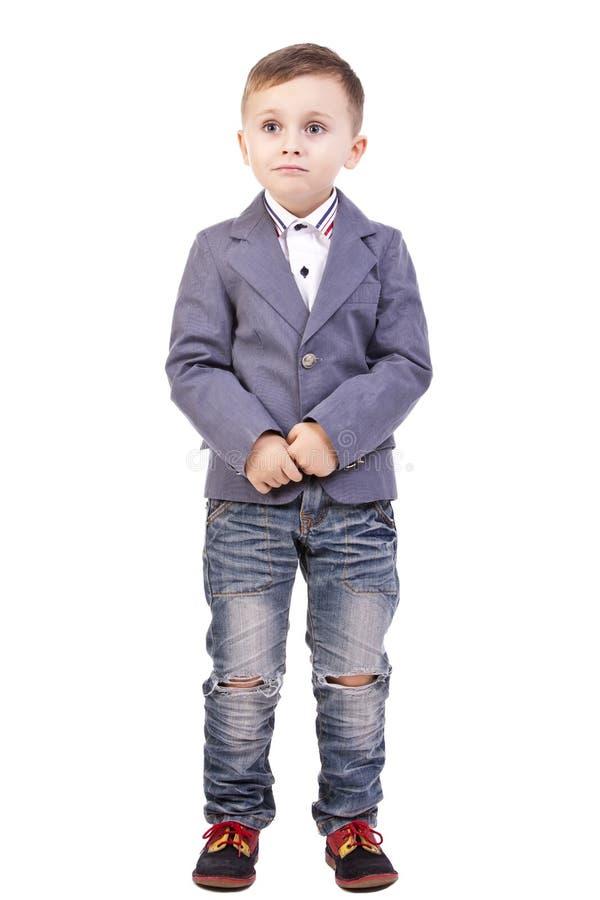 孤独的男孩 免版税库存图片