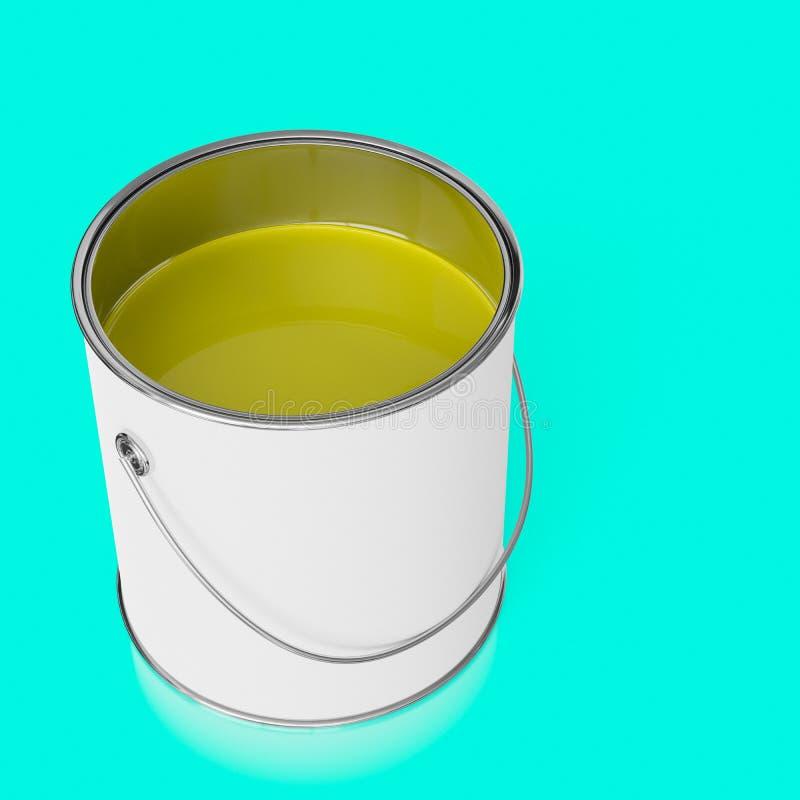 孤立开放油漆能无缝和轻微的反射性表面上 库存例证
