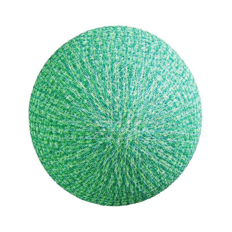 孤立绿色圆的球形灯 图库摄影