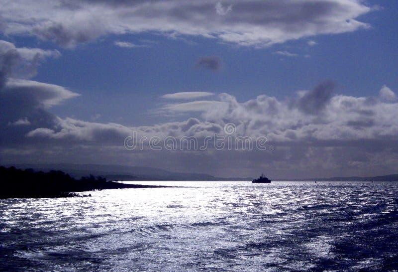孤立船 库存图片