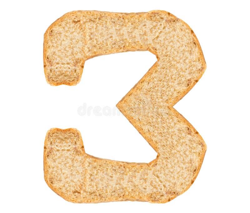 孤立面包数字 免版税库存图片