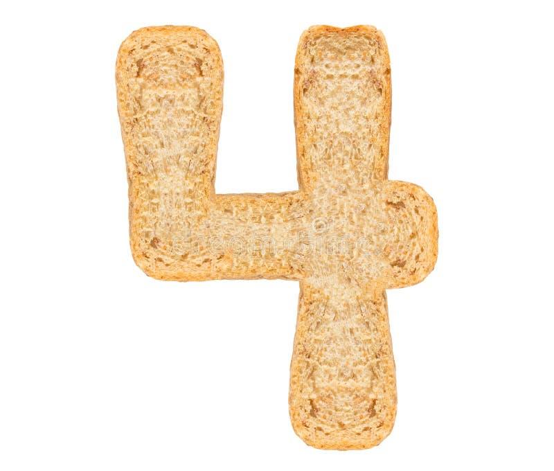 孤立面包数字 库存照片