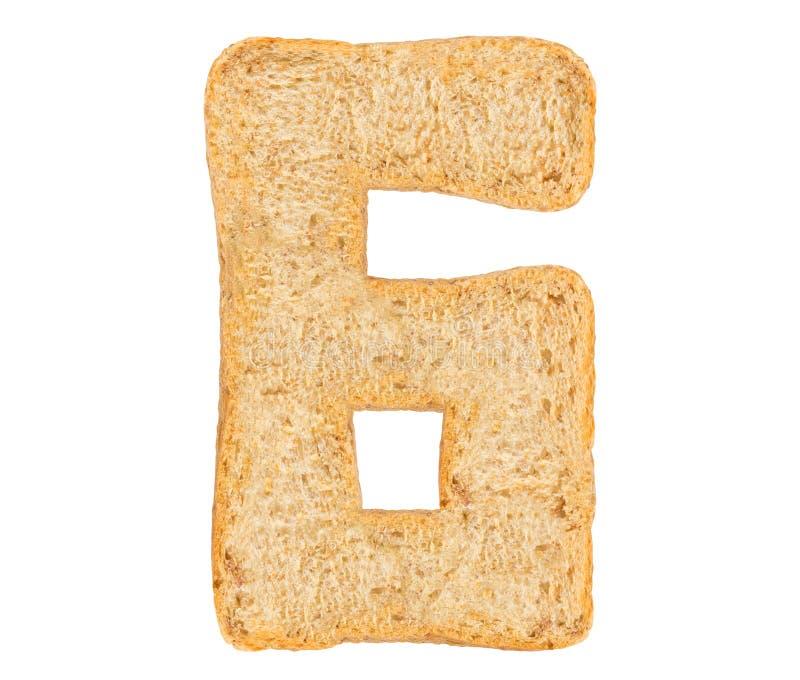孤立面包数字 库存图片