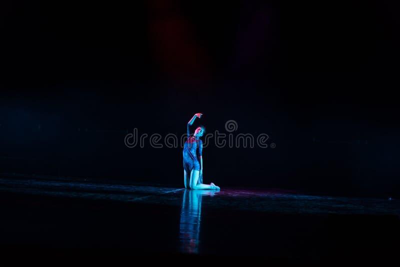 孤零零人--舞蹈戏曲驴得到水 免版税库存图片