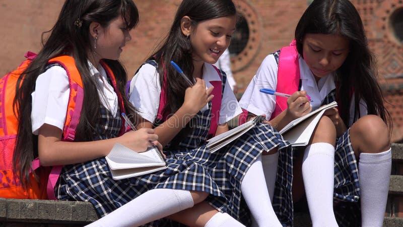 学习佩带的校服的学生 免版税库存图片