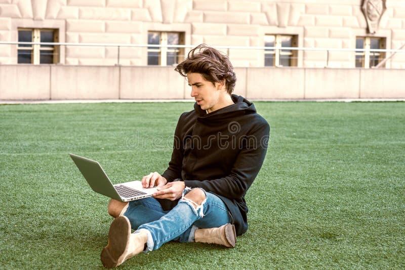 学习在纽约的美国大学生 库存照片