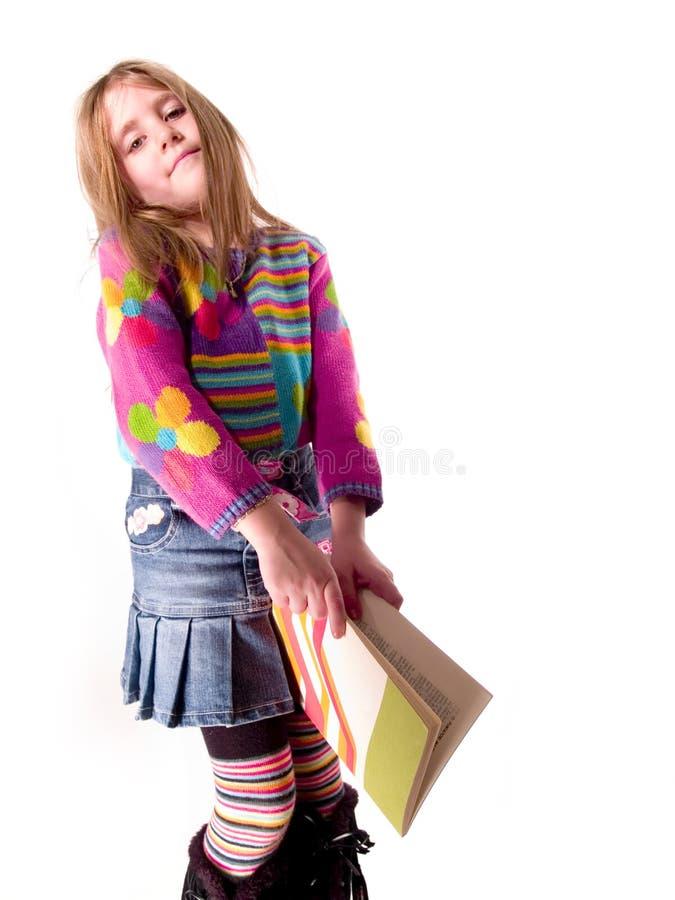 学习年轻人的女孩 免版税库存照片