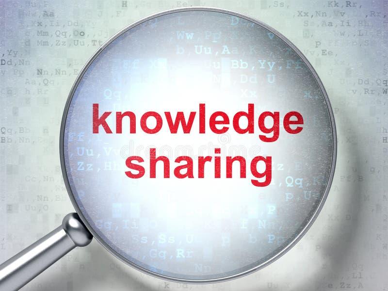 学习概念:分享与光学玻璃的知识 库存例证