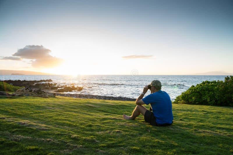 学习海洋的人 库存照片