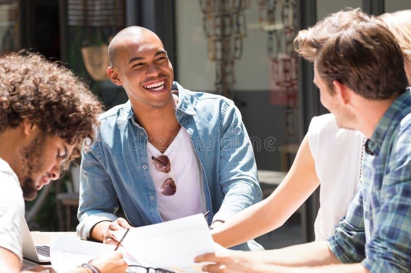 学习的学生享用和 免版税库存图片