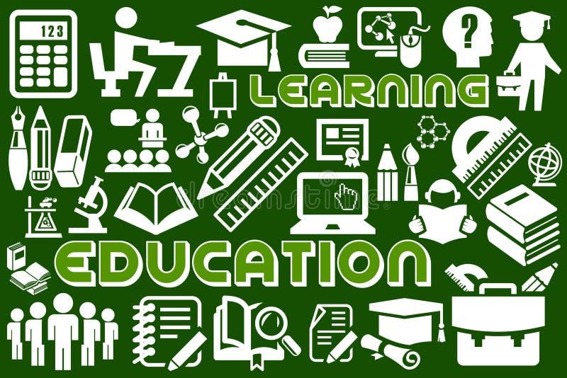 学会和教育 向量例证
