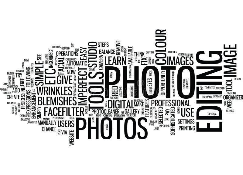 学会固定不完美的照片文本背景词云彩概念 向量例证