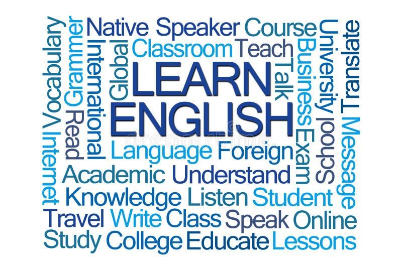 学会英语单词云彩 库存例证