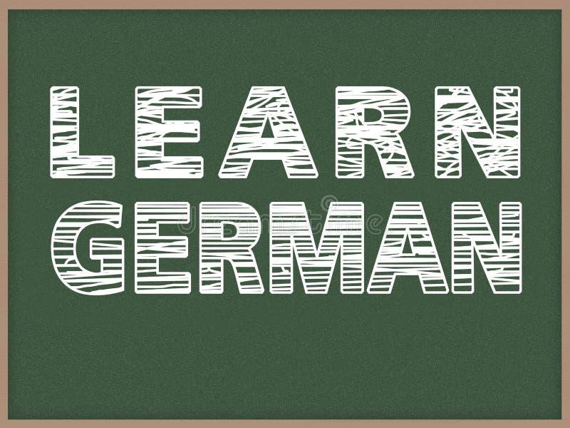 学会德语 图库摄影