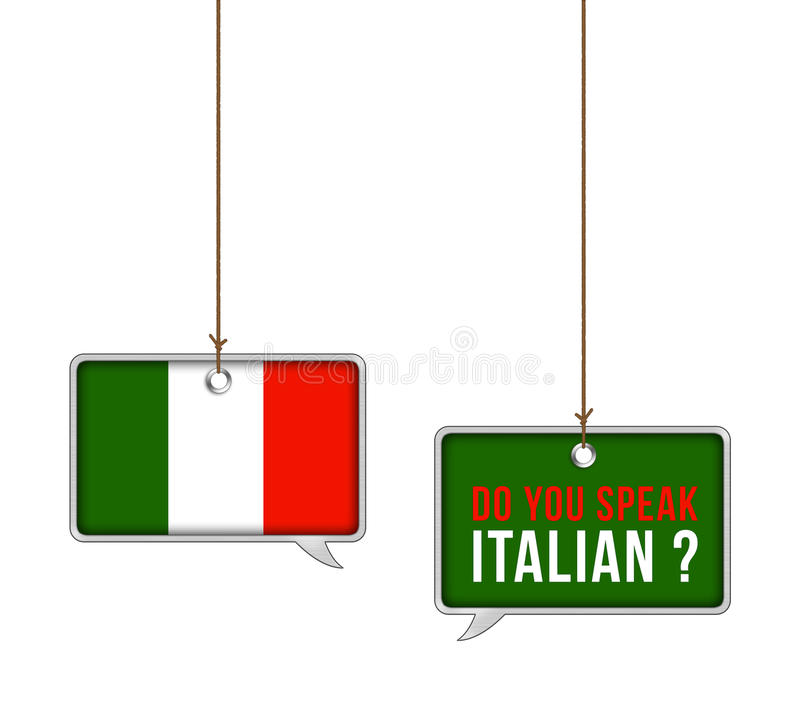 学会意大利语 库存例证