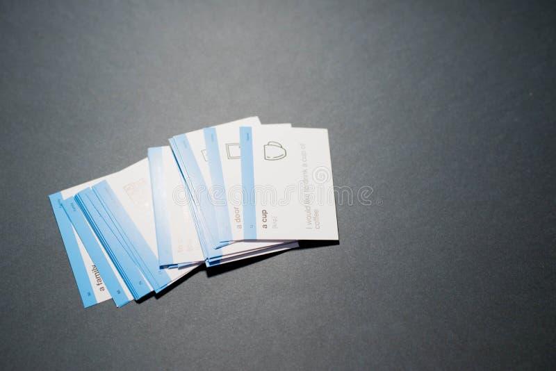 学会的英语卡片 免版税库存图片