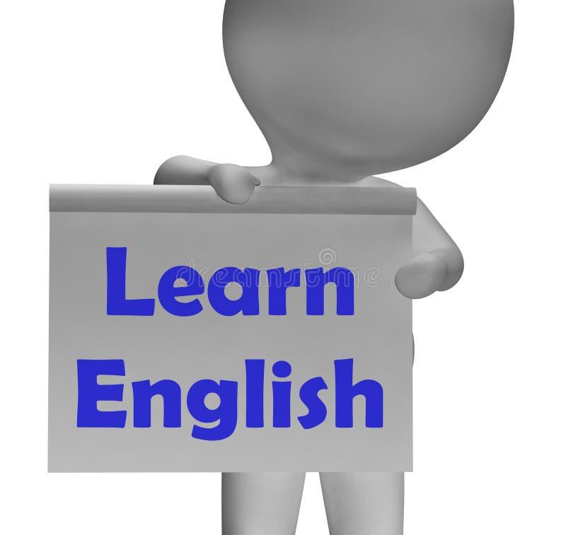 学会英国标志展示ESOL或第二种语言 向量例证