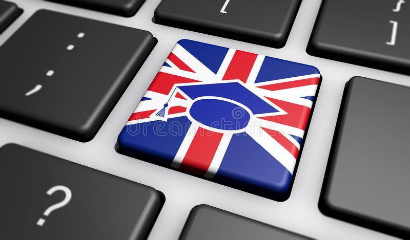 学会英国网上学校概念 向量例证