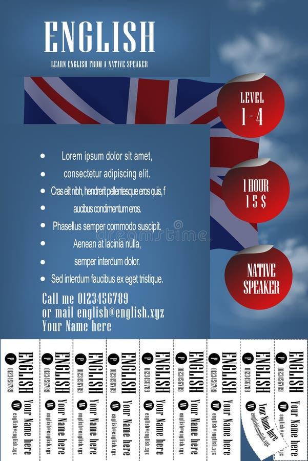学会英国英文路线横幅设计观念 皇族释放例证