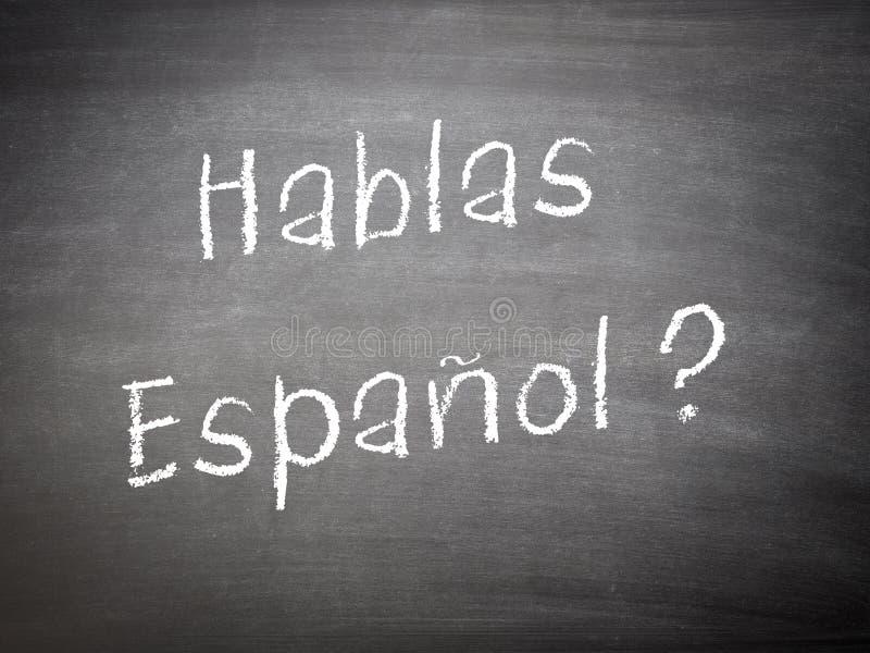 学会语言概念西班牙语 免版税库存图片