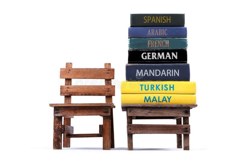 学会语言 回到学校 免版税库存照片