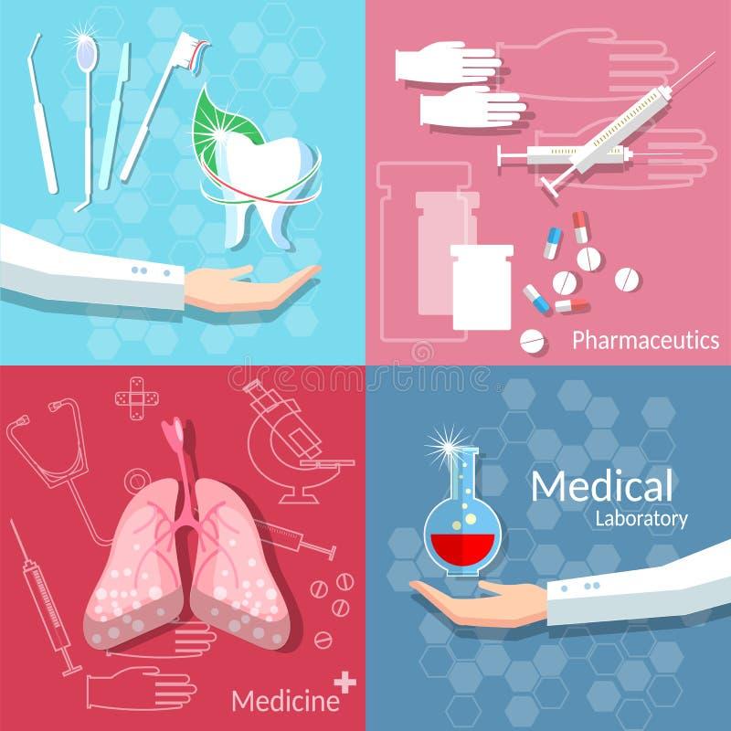 医学健康医疗概念牙科献血集合 皇族释放例证